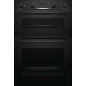 Bosch Serie 4 Built In Double Oven Black